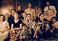 Gita Mayor and others. Shiv Mahal Palace, Baroda, 1952.jpg
