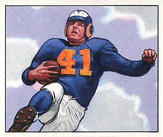 Glenn Davis (halfback) - Davis depicted with the Rams in 1950