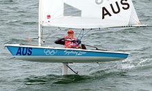 Glide Free Foils on a Laser sailing dinghy