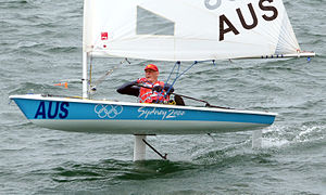Sailing hydrofoil - Glide Free Foils on a Laser sailing dinghy