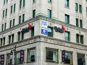 CKMI-DT - The studios of Global Montreal in the Dominion Square Building at the corner of Peel Street and Saint Catherine Street.