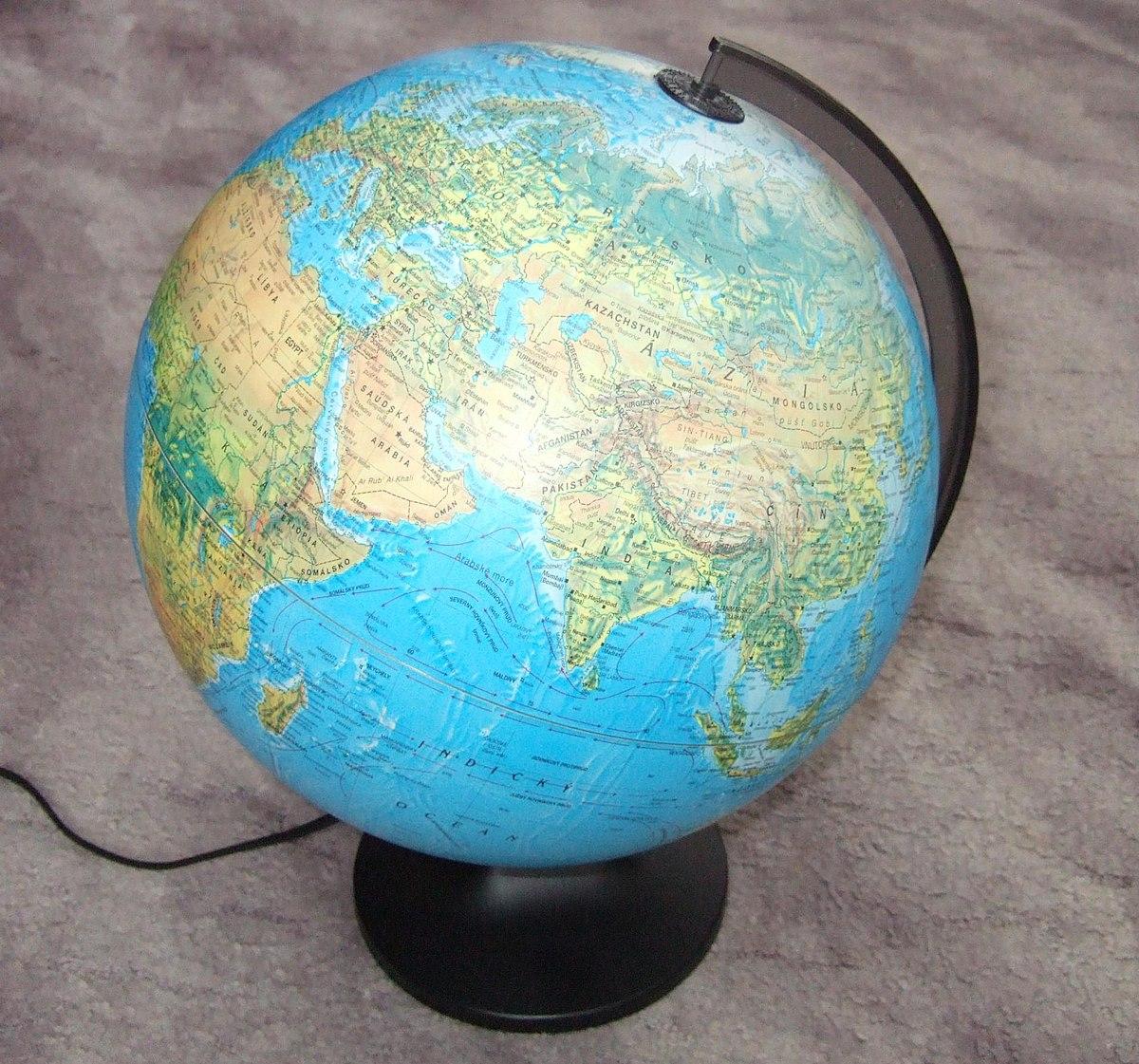 Globo terráqueo - Wikipedia, la enciclopedia libre