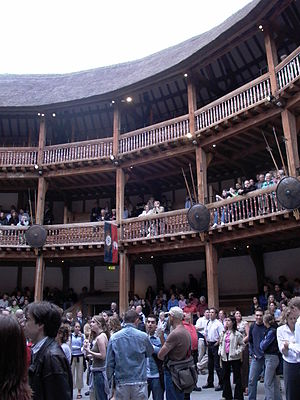 The pit and upper levels of the reconstruction...