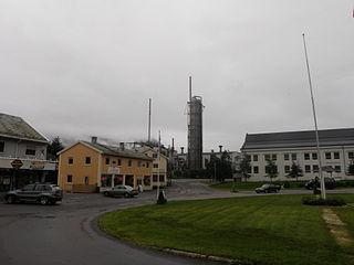 Glomfjord Village in Northern Norway, Norway