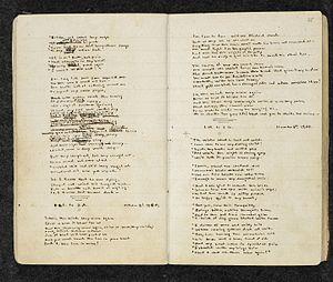 Paracosm - Manuscript by Emily Brontë that contains poems about Gondal, a paracosm.