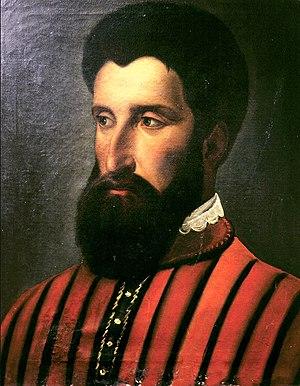 Gonzalo Jiménez de Quesada - Oil portrait of Gonzalo Jiménez de Quesada (unknown artist, Museo Nacional de Colombia, Bogotá)