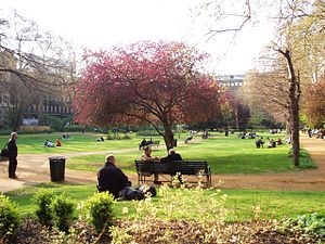 Parks and open spaces in London - View of the centre of Gordon Square.