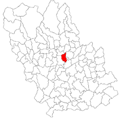 Location of Gornet, Prahova