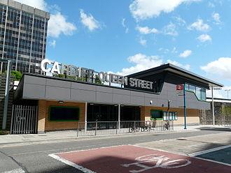 Cardiff Queen Street railway station - Image: Gorsaf Heol y Frenhines, Caerdydd