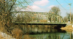 Elkhart County, Indiana - The Indiana Avenue Bridge over the Elkhart River on Goshen's north side.