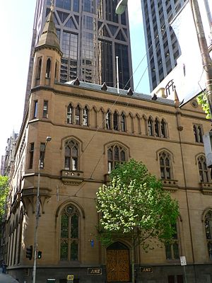 William Wardell - Wardell's Gothic ANZ Bank (corner of Queen Street and Collins Street, Melbourne).