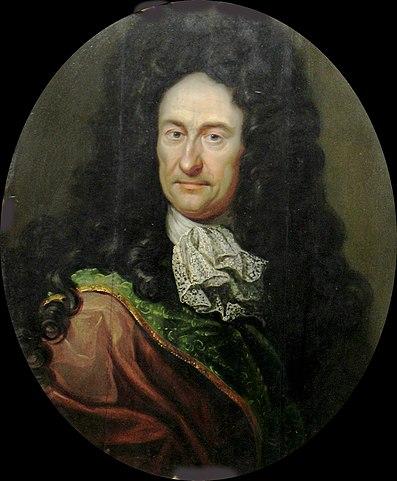 Портрет Лейбница работы Иоганна Фридриха Вентцеля, около 1700