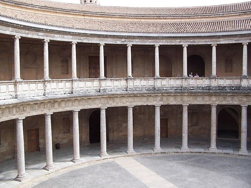 Archivo:Granada Alhambra Palacio Carlos V Interior.jpg