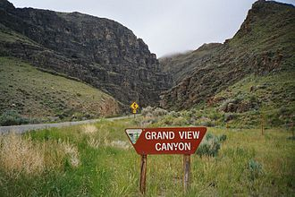 U.S. Route 93 - US 93 entering Grand View Canyon (between Mackay and Challis, Idaho)