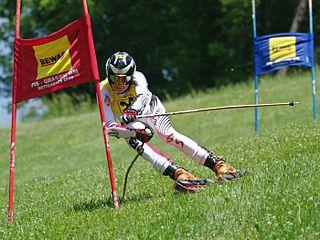 Grass skiing sport