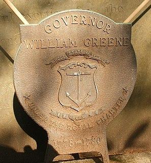 William Greene (governor) Governor of the state of Rhode Island