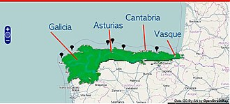 Green Spain - Green Spain location map