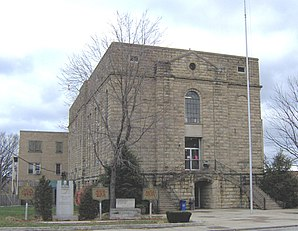 Das Greenup County Courthouse in Greenup, gelistet im NRHP