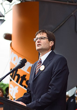 Greg Combet - Combet speaking at the Your Rights at Work rally in Melbourne, 15 November 2005.