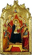 Gregorio di Cecco.Madonna enthroned with Angels.XV cent. Lichtenstein museum