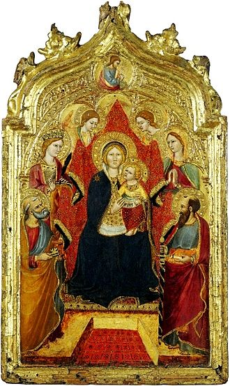 Gregorio di Cecco - Enthroned Madonna by di Cecco now at the Liechtenstein Museum