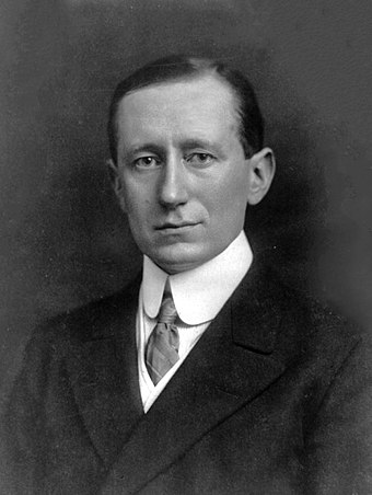 Guglielmo Marconi known for his pioneering work on long distance radio transmission Guglielmo Marconi.jpg
