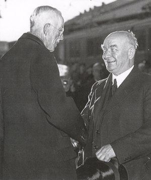 Midsummer crisis - Gustaf V and Per Albin Hansson, two leading figures in the 1941 events