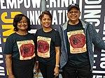 Guyana Philatelic Society members with British Guiana 1c magenta t-shirts.jpg