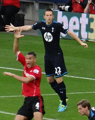 Gylfi Sigurðsson - Gylfi playing against Cardiff City on 22 September 2013