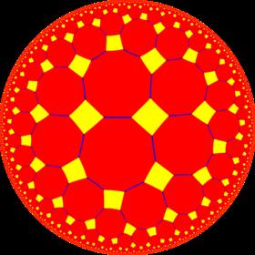 truncated order 4 pentagonal tiling