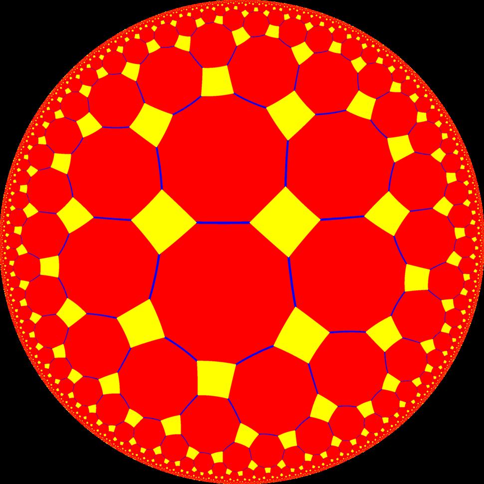 Truncated order-4 pentagonal tiling