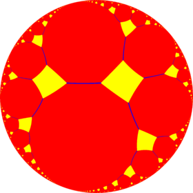 truncated order 4 apeirogonal tiling