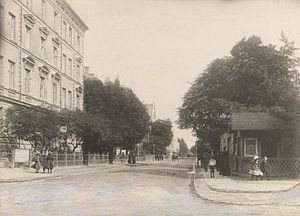 H. C. Ørsteds Vej - A view down H. C. Ørsteds Vej from Gammel Kongevej in the 1890s
