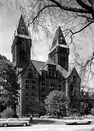 Richardson Olmsted Complex - South elevation of the Administration Building in 1965.