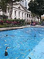 HK 中環 Central 皇后像廣場 Statue Square 噴水池 fountain pool blue March 2020 SS2 04.jpg