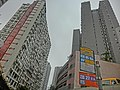 HK 北角半山 North Point Mid-Levels 雲景道 50 Cloud View Road NWFBus stop signs Flora Garden n Coral Court facades.JPG