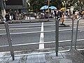 HK CWB Causeway Bay Gloucester Road metal fence October 2020 SS2 02.jpg