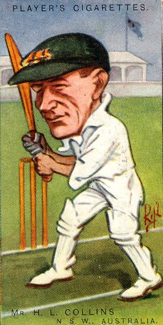 Herbie Collins - Caricature of Collins on a cigarette card