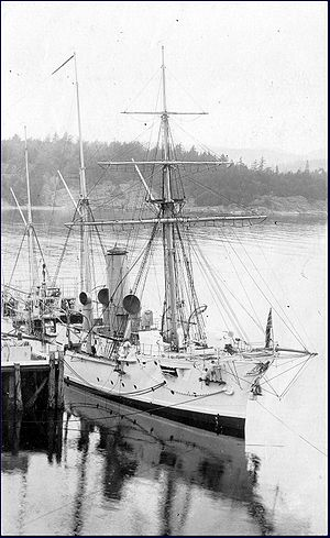 HMS Shearwater at Esquimalt circa 1908