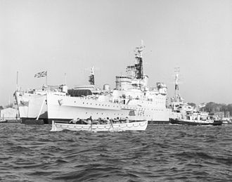 HMS Sheffield (C24) - Flagship of the reserve fleet in the 1960s