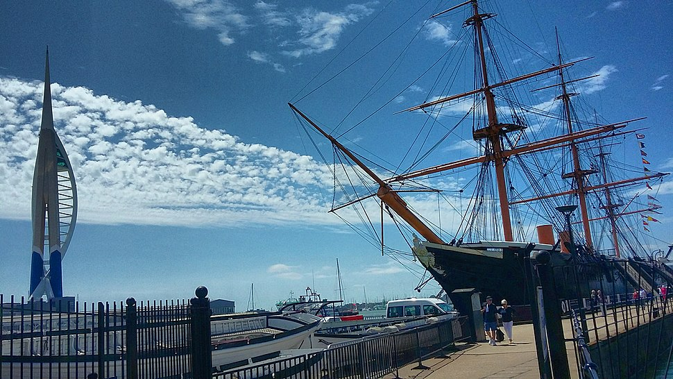 HMS Warrior and Spinnaker Tower