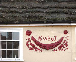 Hadleigh, Suffolk - Pargeting at 81, High Street