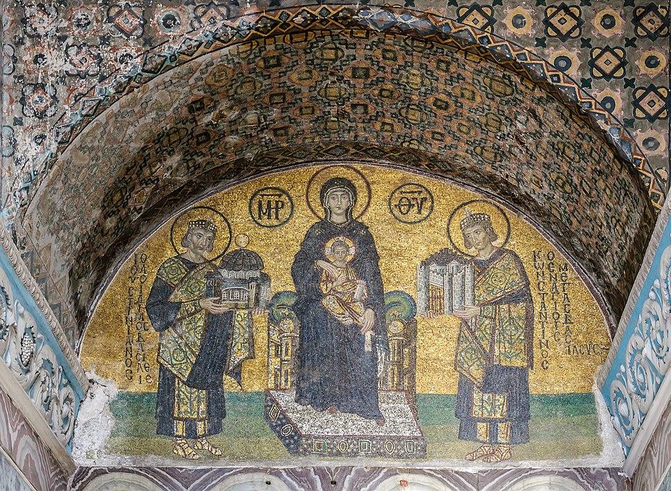 Hagia Sophia Southwestern entrance mosaics