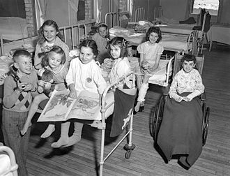 IWK Health Centre - Group of young patients, 1948