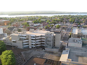 Hamilton Public Library (Ontario) - Hamilton Public Library, view from top of Stelco Tower