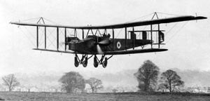 RAF Andover - Handley Page O/400 lands at RAF Andover, 1918