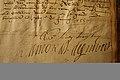 Handtekening Lamoraal van Egmont, brief aan de heer van Ohain, 17 juni 1557.jpg