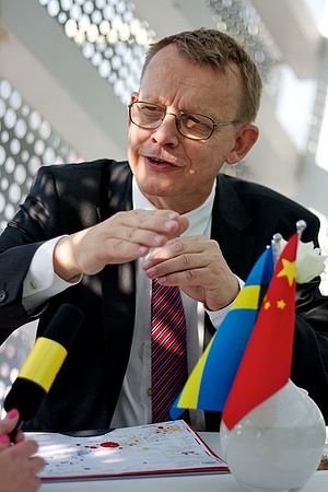 Professor Hans Rosling visited the Swedish pav...
