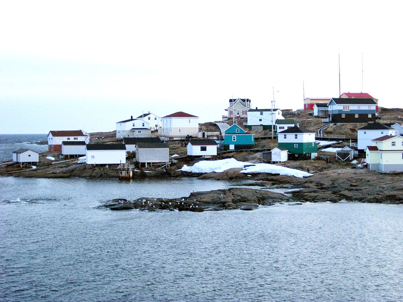 Skyline of Harrington Harbour