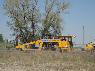 Harsco - Harsco rail equipment seen in Bradford, Ontario, May 2015.